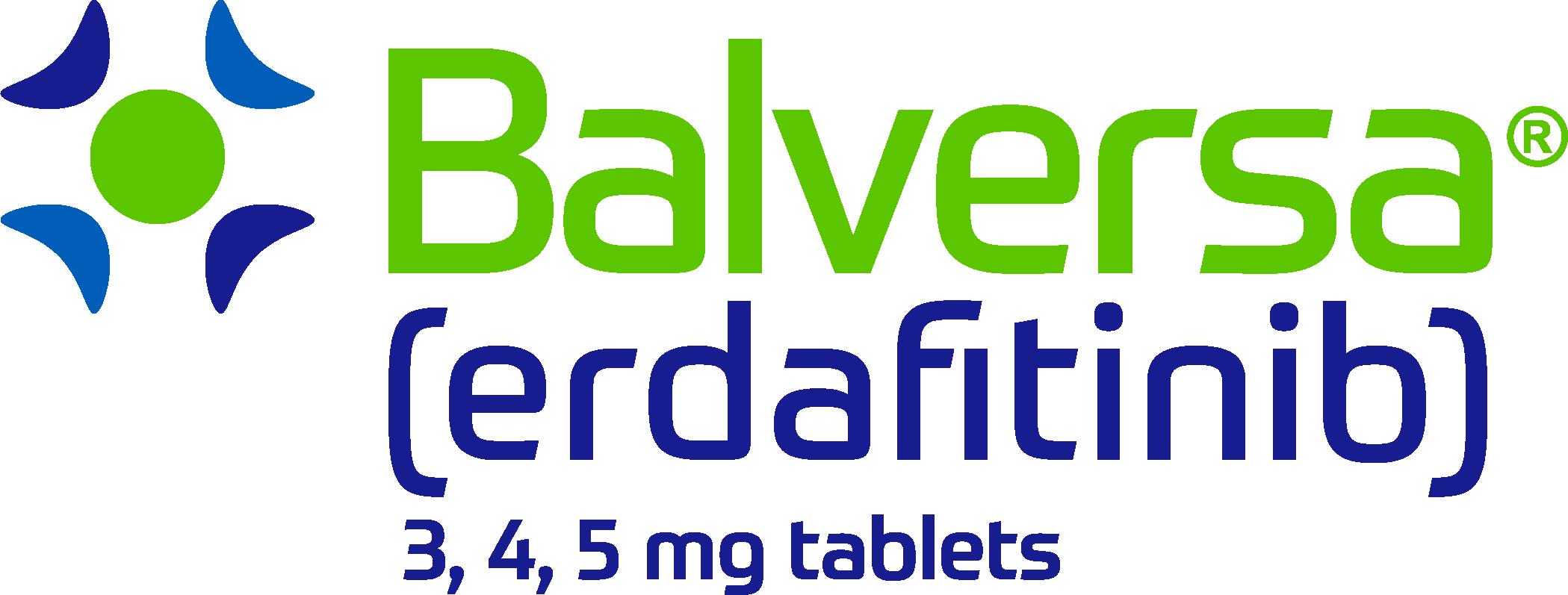 BALVERSA (erdafitinib), 3, 4, and 5mg tablets
