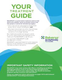Thumbnail of the BALVERSA patient brochure.